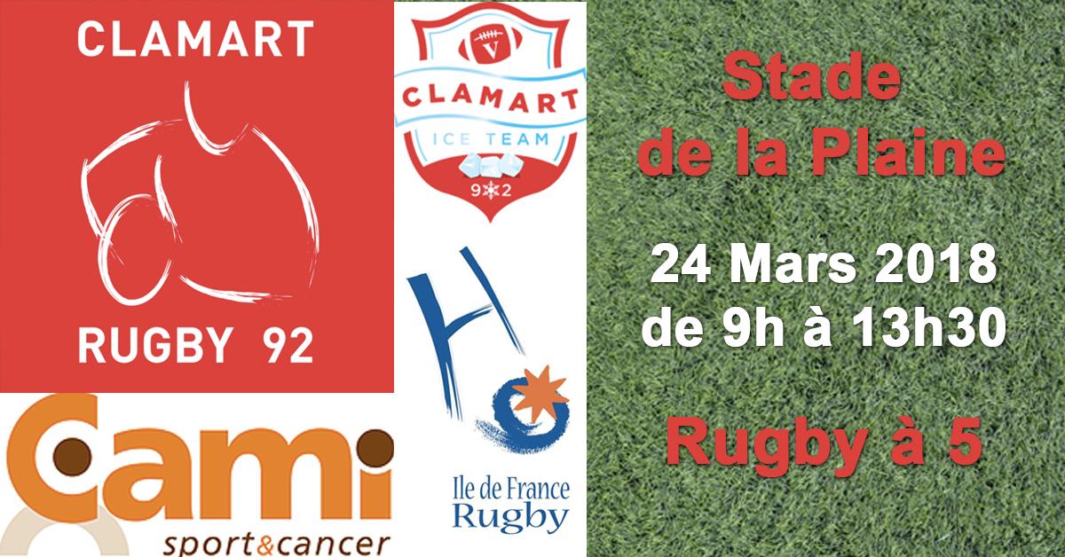 Clamart Rugby 92 rugby à 5 et Cami Sport et Cancer au programme de la semaine 12